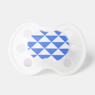 Blue and White Triangles Pacifier