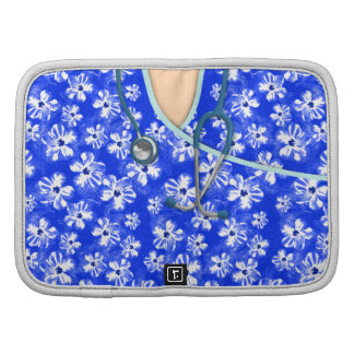 Blue And White Tropical Medical Scrubs Planners