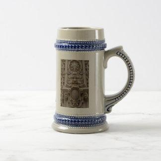 Blue and white 'TULSA green man' stein Coffee Mugs