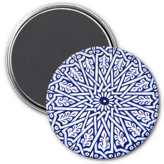 Blue And White Turkish Tile Pattern Magnet Zazzle Com