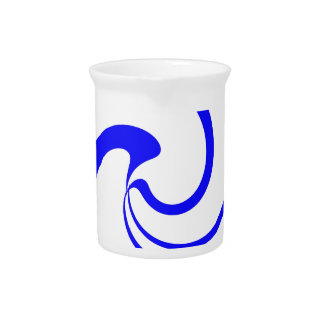 Blue and White Twist Pitcher