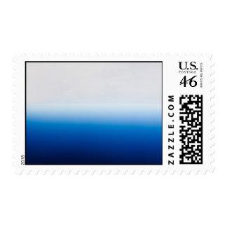 Blue and White Tye Dye Postage Stamp