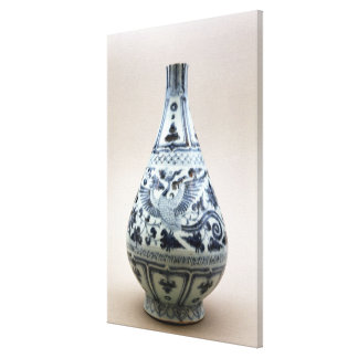 Blue and white vase, Yuan Dynasty Canvas Print