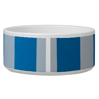 Blue and White  Vertical Lines and Gold Anchor Bowl