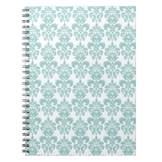 Blue and White Vintage Damask Pattern 2 Notebook