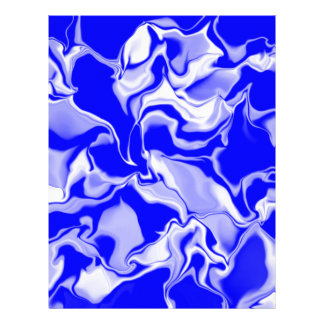 Blue and White Waves Letterhead