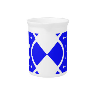 Blue and White Weaves Drink Pitcher