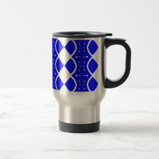 Blue and White Weaves Travel Mug