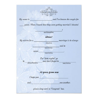 Blue and White, Wedding Advice, Comment, Custom Card