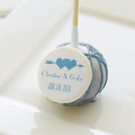 Blue and White Wedding Favor Cake Pop Cake Pops