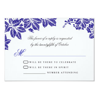blue and white wedding rsvp cards