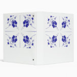 Blue and white wildflowers in a 4 up pattern vinyl binders