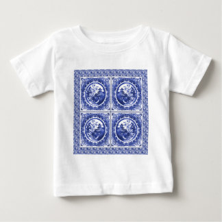 Blue and white, willow pattern design baby T-Shirt