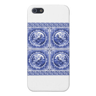 Blue and white, willow pattern design cover for iPhone SE/5/5s