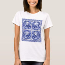 Blue and white, willow pattern design T-Shirt