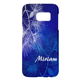 Blue and White Winter Pine Custom Samsung Case