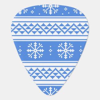 Blue And White Winter Snowflake Pattern Pick