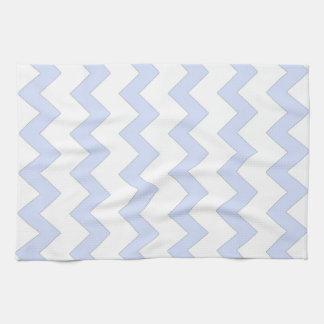 Blue and white zigzag chevron design kitchen towels