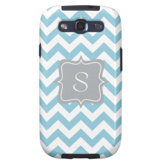Blue and White Zigzag Monogram Samsung Galaxy S3 Covers
