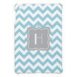 Blue and White Zigzag Monogram Case For The iPad Mini