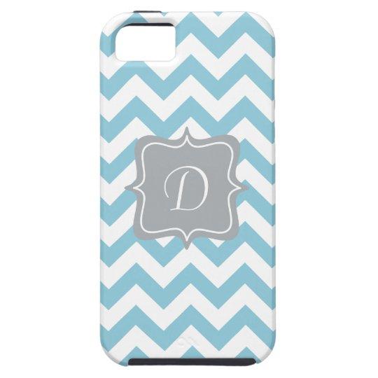 Blue and White Zigzag Monogram iPhone SE/5/5s Case