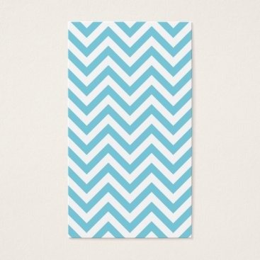 Beach Themed Blue and White Zigzag Stripes Chevron Pattern Business Card
