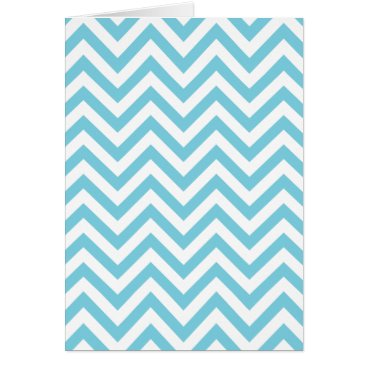 Beach Themed Blue and White Zigzag Stripes Chevron Pattern Card