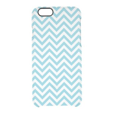 Beach Themed Blue and White Zigzag Stripes Chevron Pattern Clear iPhone 6/6S Case