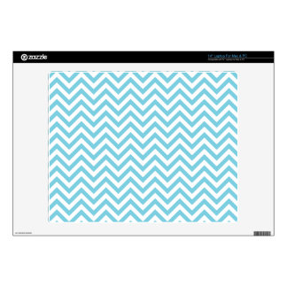 Blue and White Zigzag Stripes Chevron Pattern Decal For Laptop