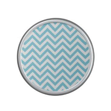 Beach Themed Blue and White Zigzag Stripes Chevron Pattern Speaker