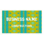 Blue and yellow abstract pattern business cards