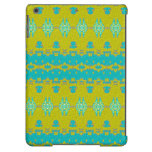 Blue and yellow abstract pattern iPad air cover