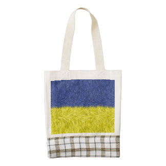 Blue and yellow abstract pattern zazzle HEART tote bag