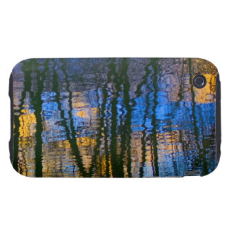 Blue and Yellow Abstract Water Reflections Tough iPhone 3 Case
