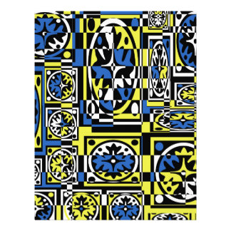 Blue and yellow abstraction letterhead