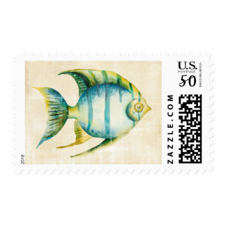 Blue and Yellow Aquarium Fish Postage