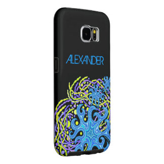Blue And Yellow Astrum Vita Abstract Art Samsung Galaxy S6 Case