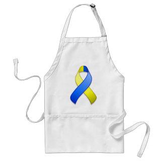 Blue and Yellow Awareness Ribbon Apron