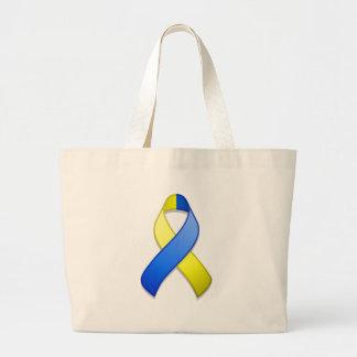 Blue and Yellow Awareness Ribbon Bag