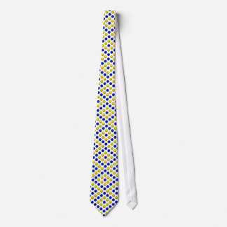 Blue and Yellow Basketball Pattern Neck Tie