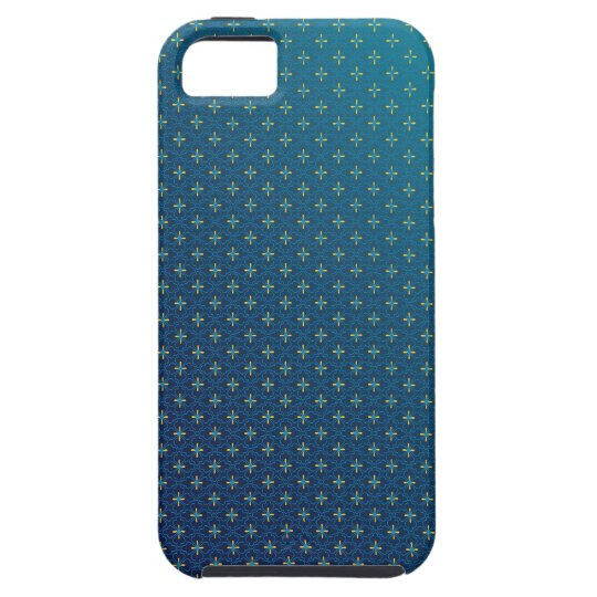 Blue and Yellow Blossoms Floral Pattern iPhone SE/5/5s Case