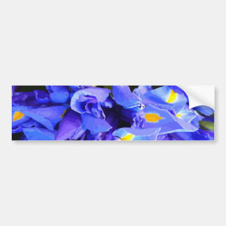 Blue and yellow bumper sticker