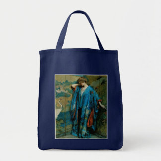 Blue and Yellow by Robert Reid Grocery Tote Bag