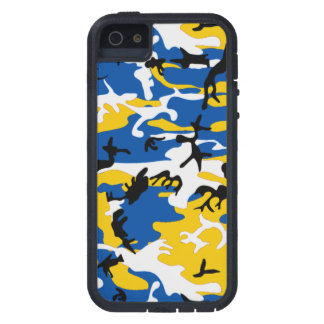 Blue and Yellow Camo iPhone 5 Cases
