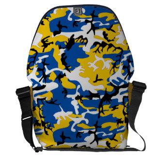 Blue and Yellow Camo Messenger Bag