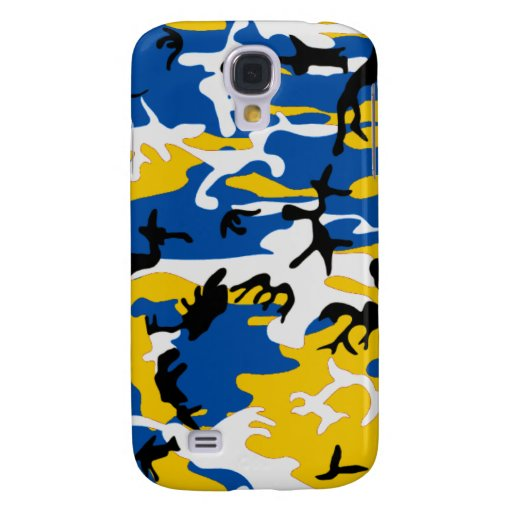 Blue and Yellow Camo Samsung Galaxy S4 Case