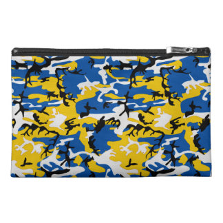Blue and Yellow Camo Travel Accessory Bag