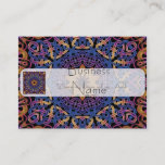 Blue and yellow Celtic knots tile 147 Business Card