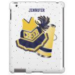 Blue and Yellow Cheerleader iPad Case