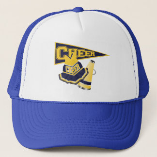 Blue and Yellow Cheerleader Trucker Hat